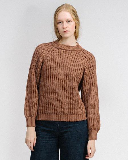 Micaela Greg Miter rib pullover - copper