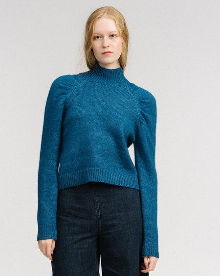 Rachel Comey Prayer puff sleeves top - blue