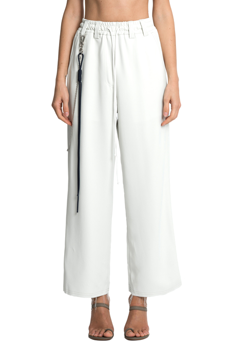 Song for the Mute Straight Wide Leg Pants - Chalk