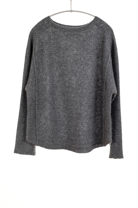 Paychi Guh Cashmere/Silk Bateau Pullover - Thunder