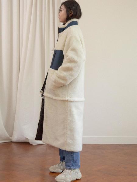 Unisex AINTCRACK Convertable Retro Transforming 2 Way Long And Short Fleece -  Ivory