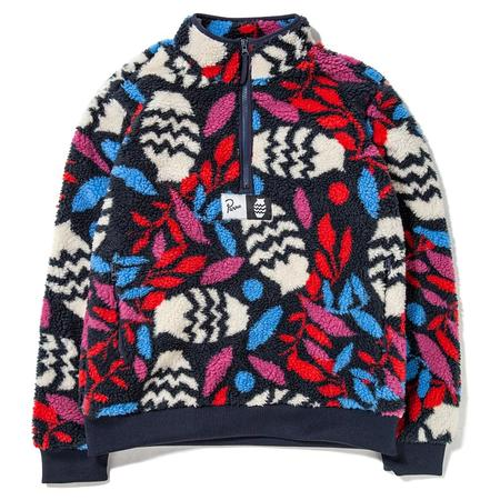 by Parra Still Life With Plant Sherpa Fleece Pullover - Multi
