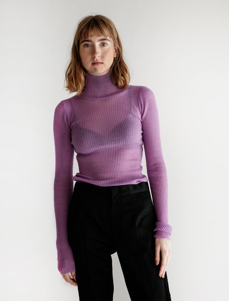 Auralee Baby Mohair Turtleneck - Lilac