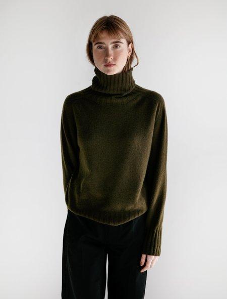 Margaret Howell Wide Rollneck Cashmere Sweater - Algae