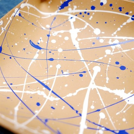 Made Solid Paint Splatter Laced Tray - Blue/White