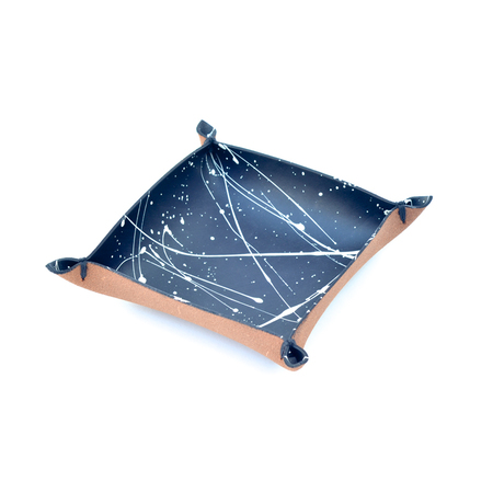 Made Solid Laced Tray - Black/White Splatter