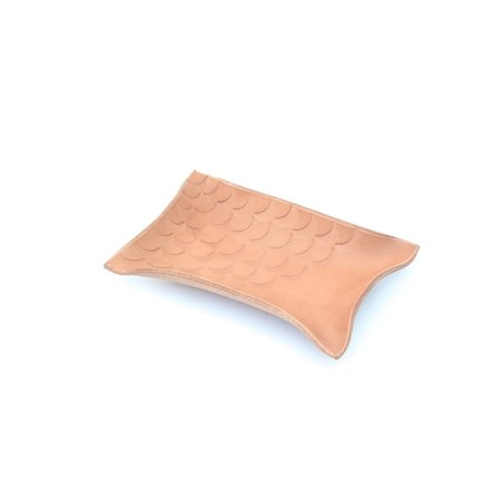 Made Solid Stamped Hand Shaped Tray - NATURAL