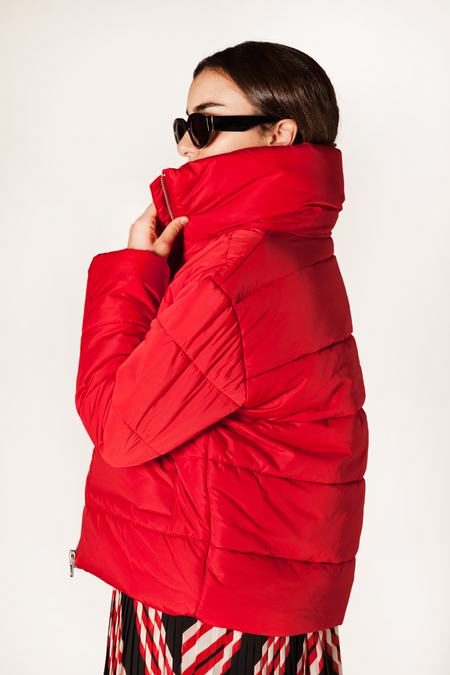 Minimum Iona Puff Jacket - RED