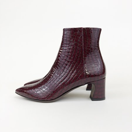 AGL Leather Faux Croc Boot