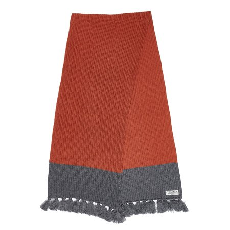 Grayers Joseph Color Blocked Scarf - Burnt Orange/Gray
