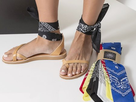 Greek Chic Natural Bandana Sandals