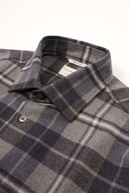 Culturata Super Soft Plaid shirt - Grey/Navy