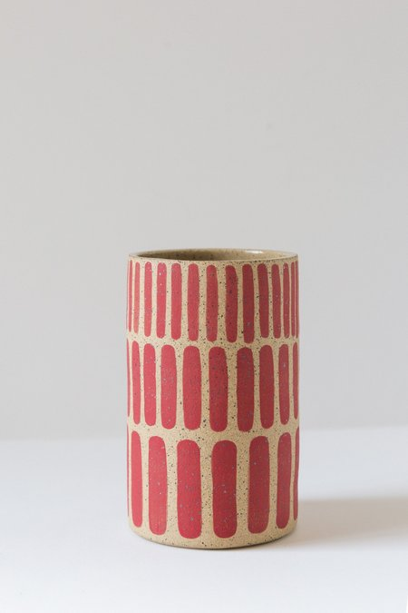 April Nickel Meha Vase - Red