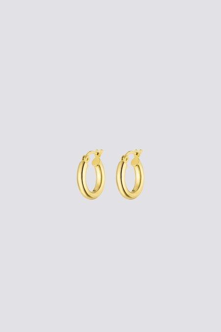Nina Kastens Small Hoops - Gold