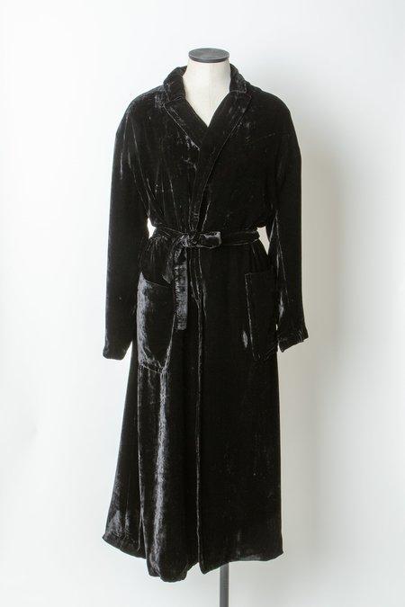 Laura Urbinati Silk Velvet Robe - Black