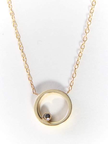 Still House Ila Necklace - Gold/Black Diamond