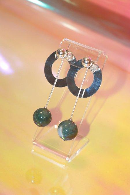 Yuun Aphelion Earring Set - Green Jasper