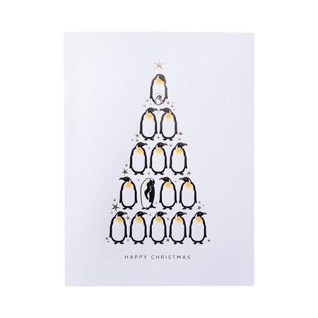 Mount Street Printers Happy Christmas Penguins Card