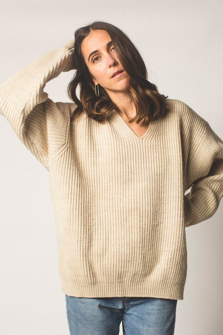 Preservation Vintage Wool Knit Sweater - Oatmeal