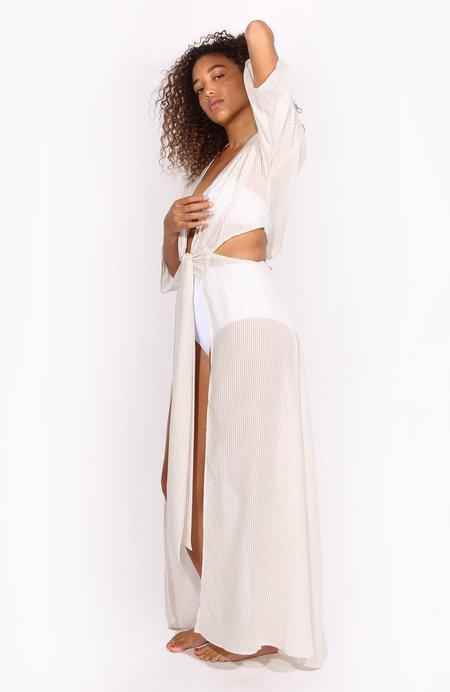 KORE SWIM Frida Robe - Nude Stripe
