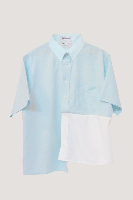 ANTIDOTE x WYLDE Open Back Shirt - Aqua