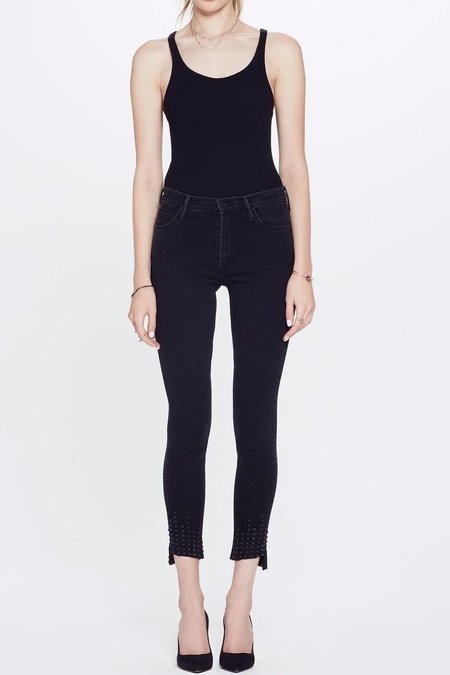 Mother Denim Stunner Zip Ankle Step Fray Jeans - Wrong Side Of The Track