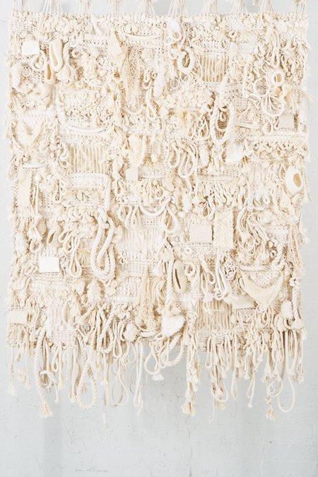 Toni Brogan White Noise #2 Woven Wall Hanging - Cream