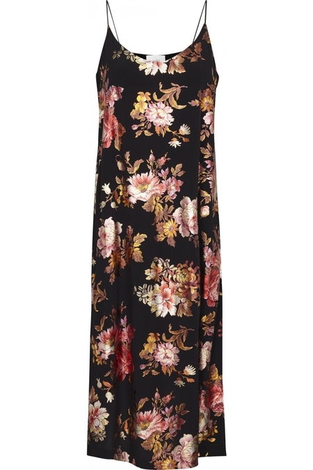 Just Female Aliya Strap Maxi Dress - Black Floral