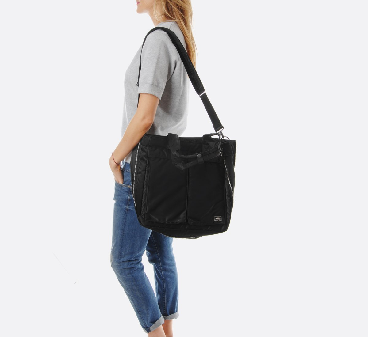 Porter Tanker Two Way Tote Bag - Black  b367e9f796b75