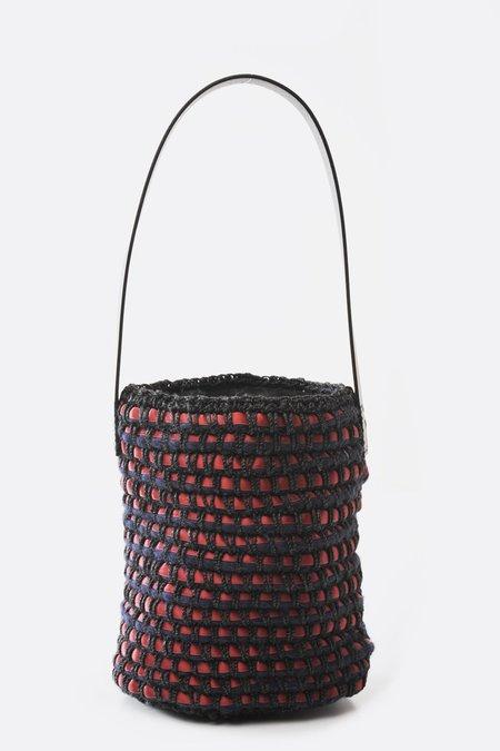 Lorenza Gandaglia Dixie Bucket - Red and Black