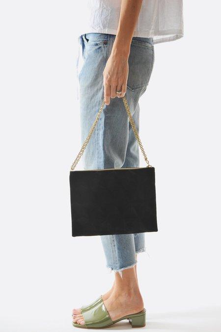 Anne Grand-clément Plain Black Large Pouch