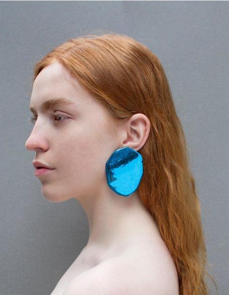 Julie Thévenot Reflection Earrings - Electric Blue