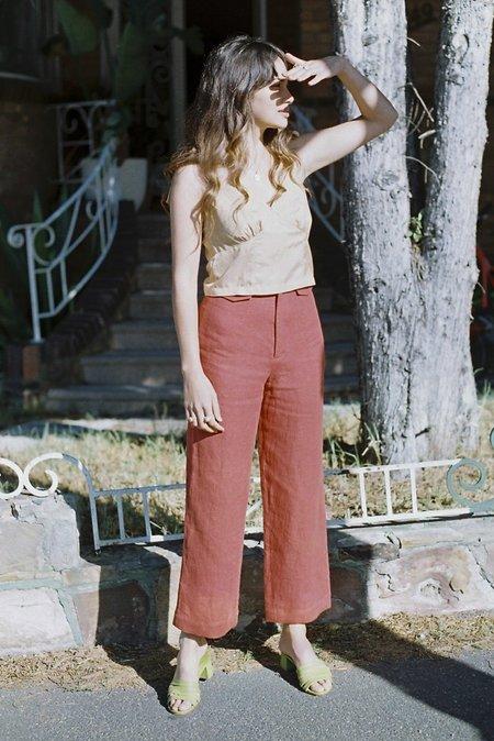 SISTER Brigitte Linen Pants - Rust