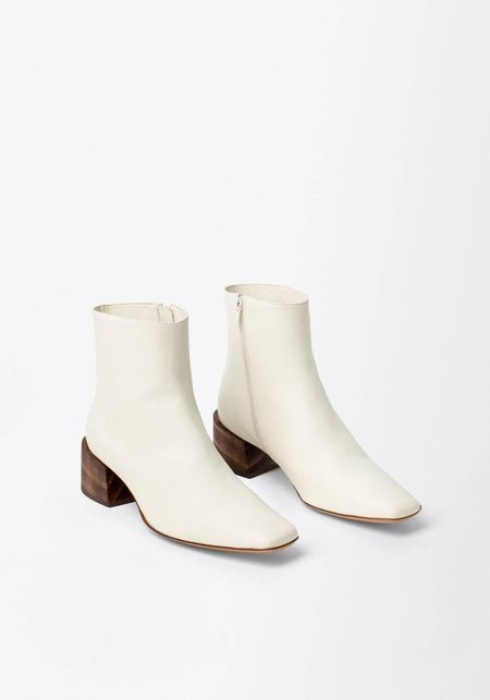 Mari Giudicelli Leather Classic Boot  - White
