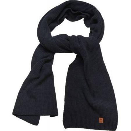 Knowledge Cotton Apparel Ribbing Scarf GOTS - Total Eclipse