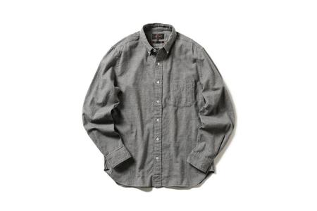Beams + Hounds Tooth Button Down Shirt - Grey