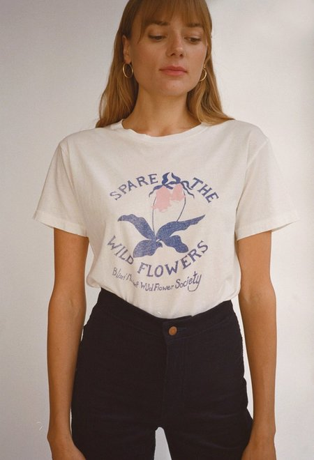 Bliss and Mischief Spare the Wildflowers Tee - Off White