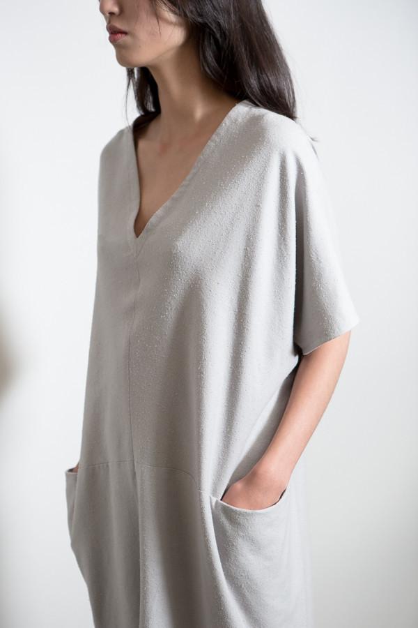MAD Raw Silk Pocket Dress