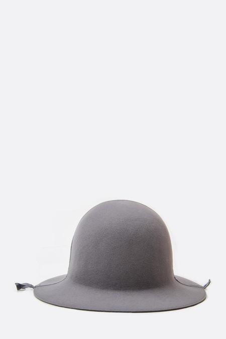 Mature Hat Folding Rabbit Wool Hat - Gray