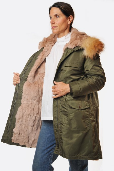 S.W.O.R.D 6644 Fur Lined Anorak - Olive