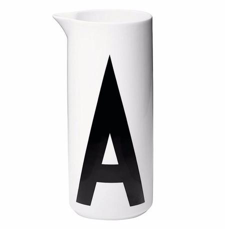 Design Letters Aqua Jug - WHITE