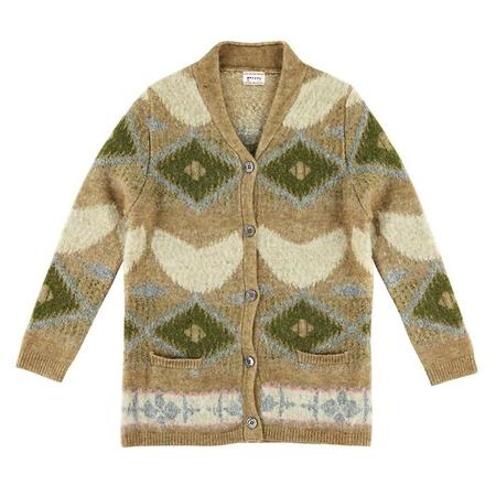 KIDS Morley Child Ibia Cardigan - Royal Camel Cream Pattern