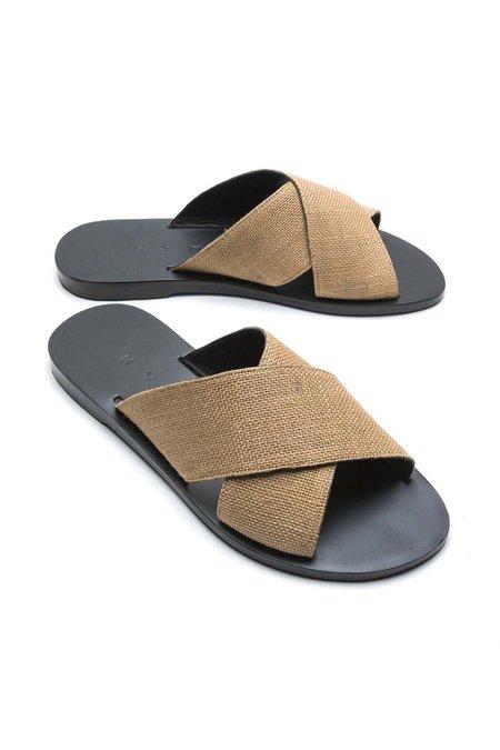 KYMA Chios Sandals - Black/Ochra
