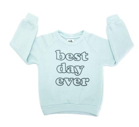 KIDS Kira Kids Best Raglan Sweatshirt - Dusty Blue