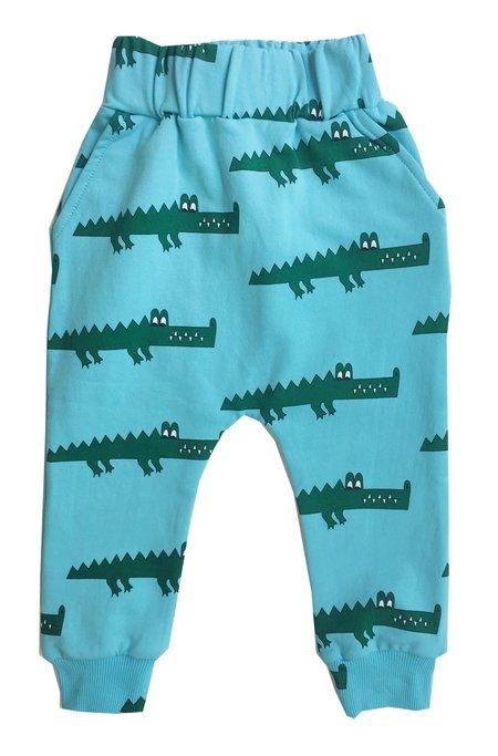 KIDS Hugo Loves Tiki Crocodile Sweatpants - BLUE