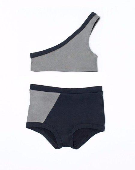KIDS MOTORETA Colorblocked Bikini - Black/Silver