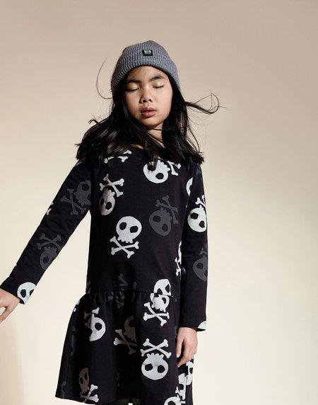 KIDS LITTLE MAN HAPPY Danger Skater Dress - BLACK