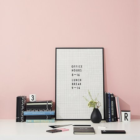 Design Letters A2 Message Board - BLACK