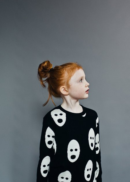 KIDS Beau Loves Ghosts Sweater - BLACK