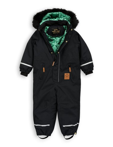 KIDS Mini Rodini Kebnekaise Fox Family Winter Overall - BLACK